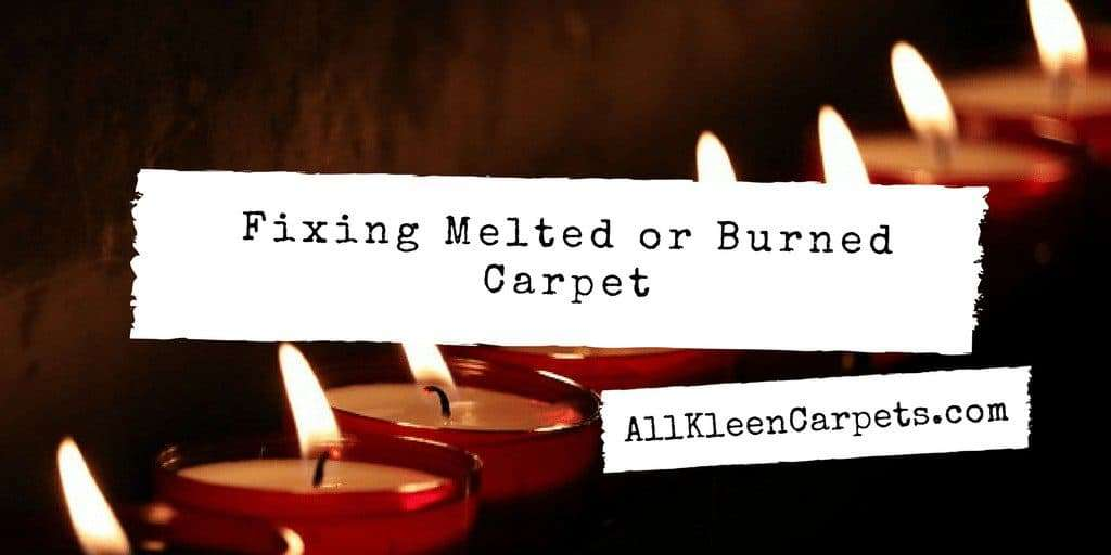 Repairing Burnt or Melted Carpet