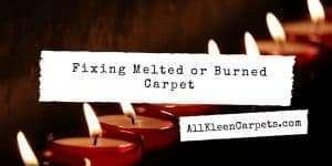 Repairing Burnt or Melted Carpet