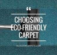 Choosing Eco-Friendly Carpet