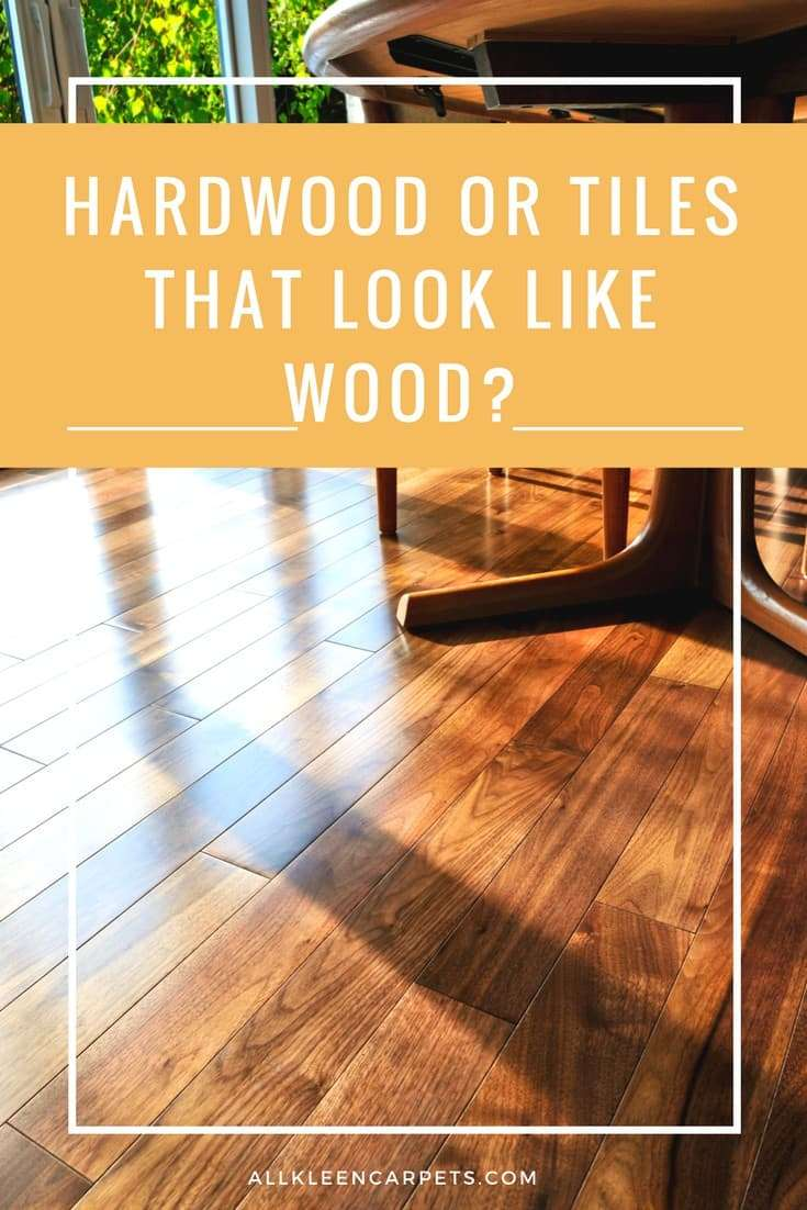 Hardwood Floors or the Wood Look Tile?
