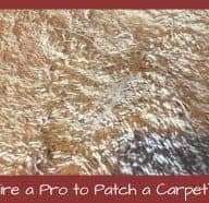 Should I Hire a Pro to Patch Carpet