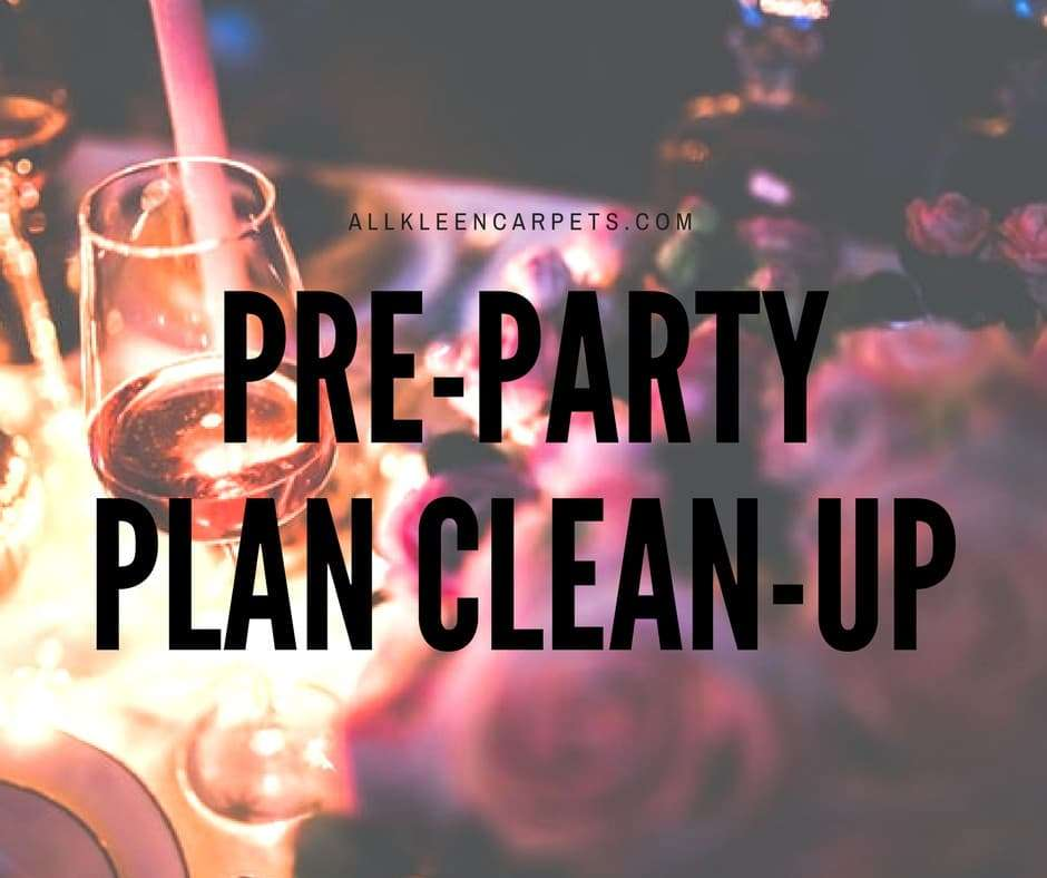 Pre-Holiday Party Cleaning Plan
