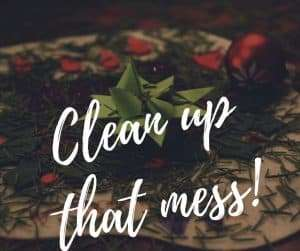 Easy Tricks for Cleaning Up After the Christmas Tree