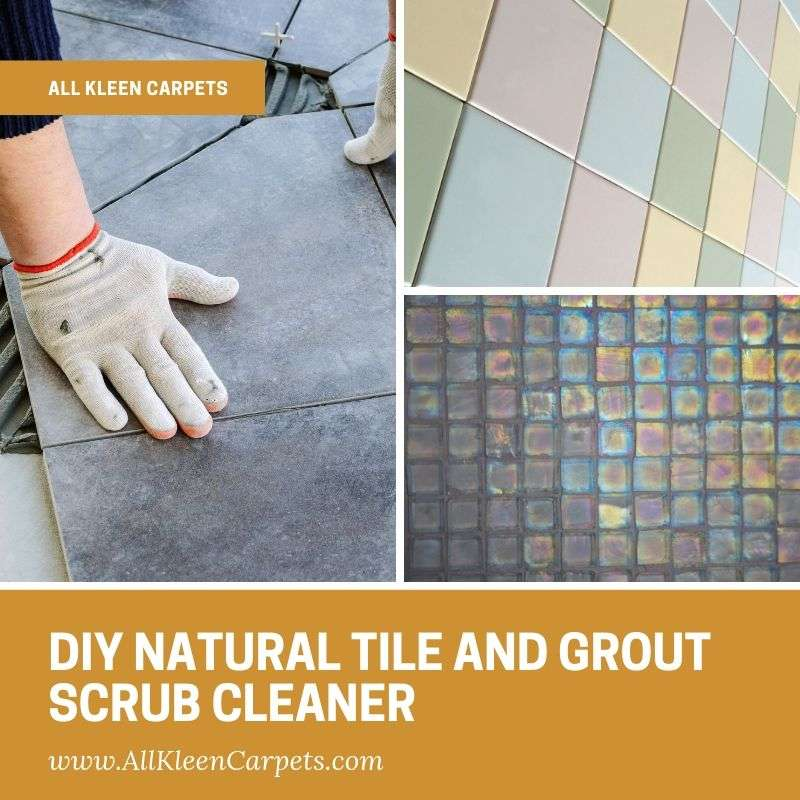DIY Natural Tile and Grout Scrub Cleaner