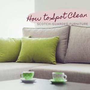 How to Spot Clean Scotch-Guarded Furniture